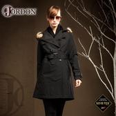 【JORDON 橋登 女 GORE-TEX 二件式大衣外套《黑》】1966/防水外套/大衣/羽絨衣