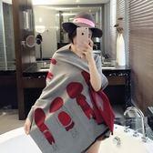 羊毛絨長披肩-可愛經典卡通女孩女圍巾5色73hy42[時尚巴黎]