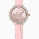 SWAROVSKI施華洛世奇 CRYSTAL FROST 園中花景時尚腕錶 5575217