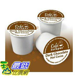 [美國直購 ShopUSA] Green Mountain Cafe Escapes Dark Chocolate Hot Cocoa K-Cup (24 count) $1741
