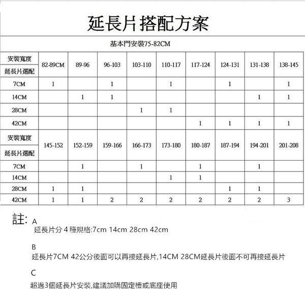 kingbo門欄專用延長片7CM