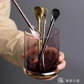 304不銹鋼鐵吸管過濾吸管勺創意勺子飲料牛奶喝水彩色馬黛茶吸管兩隻裝 娜娜小屋