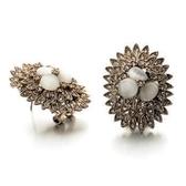 耳環 玫瑰金 925純銀鑲鑽-別緻奢華生日情人節禮物女飾品73gs232【時尚巴黎】