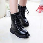 兒童馬丁靴子新款春秋韓版女童公主鞋雪地皮靴女孩長靴兒童靴 9號潮人館