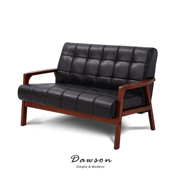 沙發 雙人沙發 Dawson道森現代風復古雙人皮質沙發【obis】