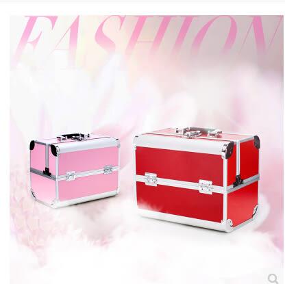 京東生活小物專業多層化妝箱收納工具箱手提跟妝化妝箱化妝包紋繡箱大容量