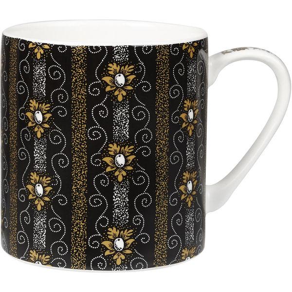 英國製造精瓷340ml馬克杯-Noir純黑系列-完美。Paragon