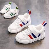 兒童小白鞋秋季單鞋男童女童板鞋皮面百搭3透氣小童4童鞋6歲5