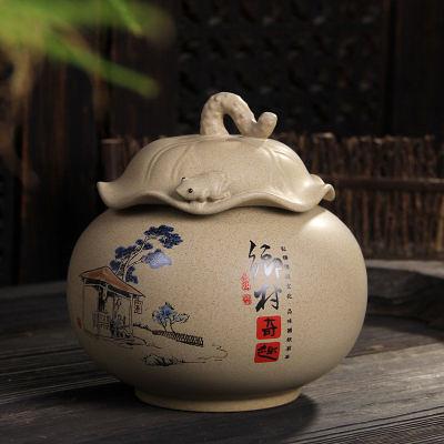 手工粗陶陶瓷密封儲茶罐(一個價)(圖一)3