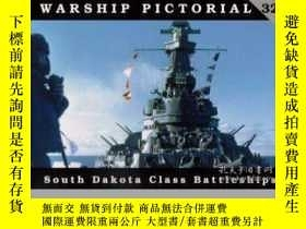 二手書博民逛書店Warship罕見Pictorial 32 South Dakota Class Battleships-軍艦圖片