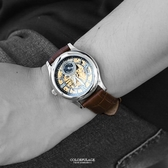 范倫鐵諾˙古柏 鏤空皮革機械錶NEV69