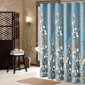 衛生間浴簾套裝加厚防霉洗澡隔斷淋浴間門簾子布防水防潑水浴室掛簾窗簾