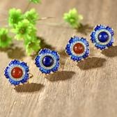 耳環 純銀鍍14K南紅瑪瑙-耀眼迷人生日情人節禮物女飾品2色73hl25【時尚巴黎】