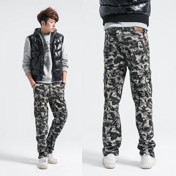 牛仔褲-叢林戰鬥迷彩工作褲