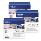 Brother DK-22243 白底黑字 (3入包裝)原廠連續標籤帶 適用QL-500/QL-550/570/650/580N/1050/1060