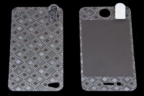 USAMS 3D 雷射Laser 高耐磨 手機螢幕保護貼 Apple iPhone 4S 菱格 (二片裝)