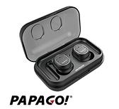 【PAPAGO】 W1 真無線觸控藍牙耳機(金屬灰)