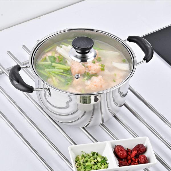 加厚不銹鋼湯鍋煲湯鍋具家用煮粥不粘鍋奶鍋燃氣電磁爐通用 igo貝兒鞋櫃