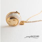 yuniqueBACKYARD 月亮兔懷錶組項鍊