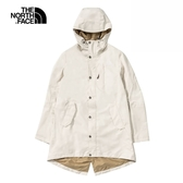 The North Face 女 防水透氣衝鋒衣 白 NF0A4UCF11P【GO WILD】