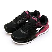 LIKA夢 DIADORA 迪亞多那 專業緩震輕量慢跑鞋 夢幻幾何系列 黑桃紫 7670 女