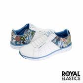 Royal Elastics Zephyr 經典運動鞋-白x水藍x印花