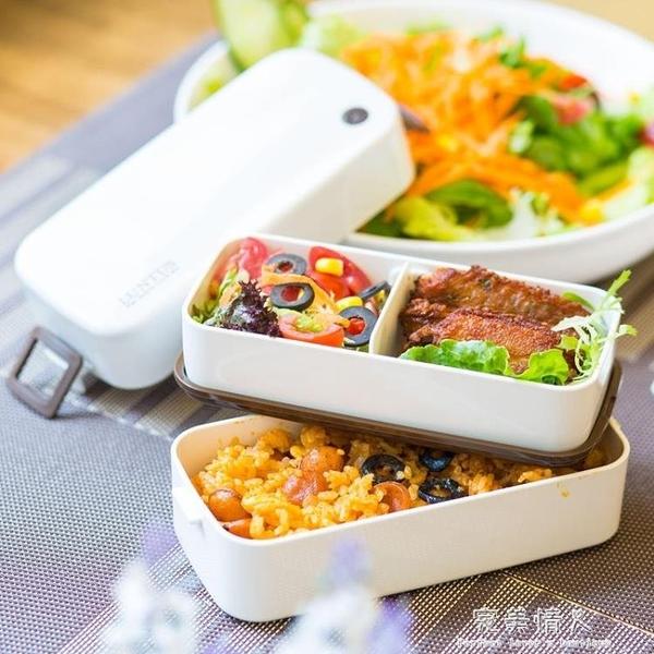 日本ASVEL飯盒學生雙層分格日式可微波爐餐盒分隔帶飯可愛便當盒  【全館免運】