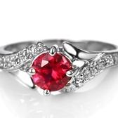 水晶戒指 925純銀-時尚優雅貴氣精美生日情人節禮物女飾品73lj360【時尚巴黎】
