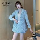 外套 炸街西裝外套女新款秋裝韓版修身雙排扣西服小個子上衣氣質潮