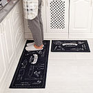 時尚創意地墊10 廚房浴室衛生間臥室床邊門廳 吸水長條防滑地毯(一大+一小)