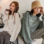 MIUSTAR 正韓-About刺繡內刷毛棉質上衣(共3色)【NH3050LG】預購