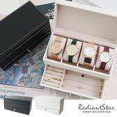 時光私藏雙層手錶飾品皮革珠寶盒收納盒【OD009】璀璨之星☆