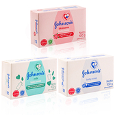 嬌生 嬰兒香皂 100g 原味/ 牛奶/ 花朵Johnson's 強生 保濕 肥皂 嬰兒潤膚香皂【0018622】