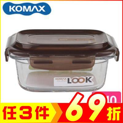 韓國 KOMAX 巧克力長形強化玻璃保鮮盒340ml 59074【AE02250】99愛買生活百貨