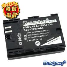 《電池王》Canon LP-E6 單眼高容量鋰電池 For 5D MARK II/ 7D/ 60D/EOS 5D Mark III 5D3 ☆免運費☆