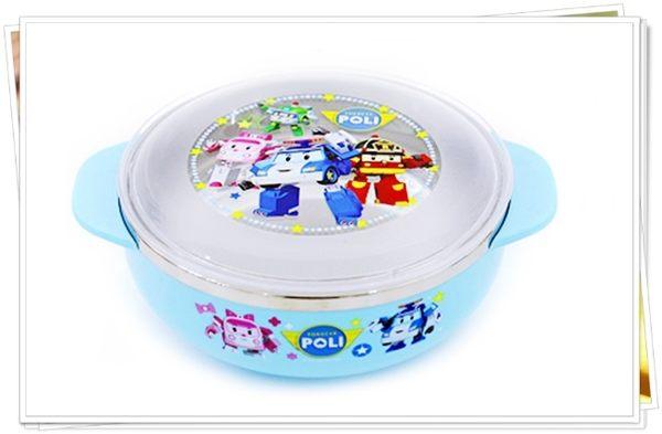 poli 702054 湯瑪士 701385 不鏽鋼碗 飯碗 雙耳碗 附蓋 大 370ml 奶爸商城