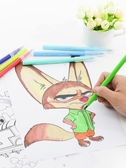 彩筆畫筆套裝初學者手繪彩色水筆幼