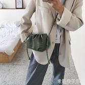 女包2020新款氣質女包褶皺小包包手拿云朵包純色小包包單肩休閒包 米蘭潮鞋館