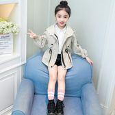風衣外套 女童春秋裝韓版洋氣小女孩大童風衣兒童裝秋季公主外套潮【小天使】