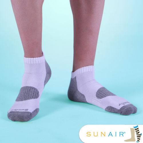 sunair 滅菌除臭襪子-自行車款L(25~29)-白+淺灰/SA0102