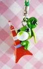 【震撼精品百貨】日本精品百貨-手機吊飾/鎖圈-茶犬系列-鐵塔(綠繩)