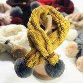 兒童圍巾春秋冬季嬰兒針織男童女童寶寶百搭保暖小孩毛線圍脖