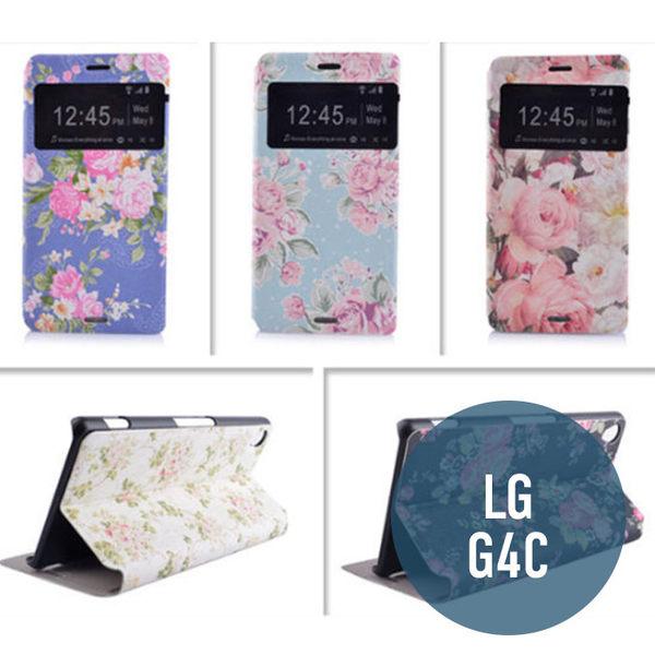 LG G4C / mini 彩繪卡通 側翻皮套 開窗 支架 保護套 手機套 保護殼 手機殼 皮套