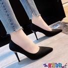 高跟鞋 高跟鞋女2021新款性感尖頭細跟職業工作鞋超火百搭夏季淺口單鞋女新品