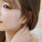 新款韓國耳飾清新鋯石珍珠隱形軟墊耳夾無耳洞耳環女假耳釘耳骨 薔薇時尚