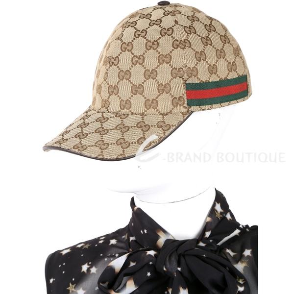 GUCCI Original GG 緹花帆布棒球帽(咖棕色) 1820516-07