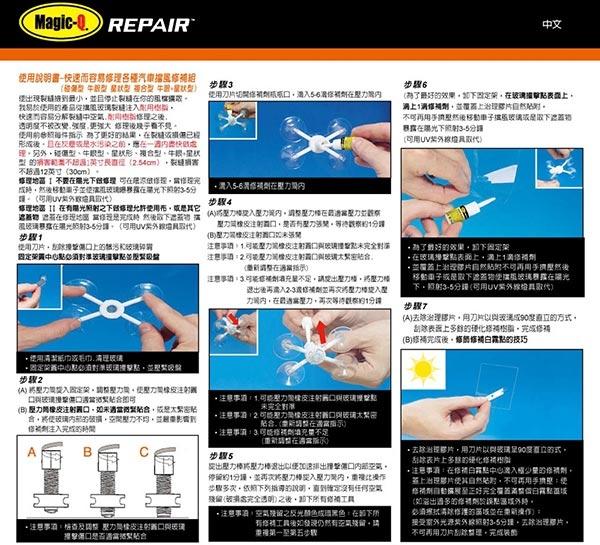 【旭益汽車百貨】Magic-Q 破鏡重圓 汽車擋風玻璃修補組