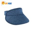 UV100 防曬 抗UV-輕便花紗空心帽-可收納