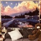 日落風景 ins背景墻布掛布出租屋墻壁改造房間臥室床頭佈置直播微愛
