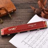 口琴24孔復音c調高級成人兒童男學生女士初學者自學專業演奏樂器